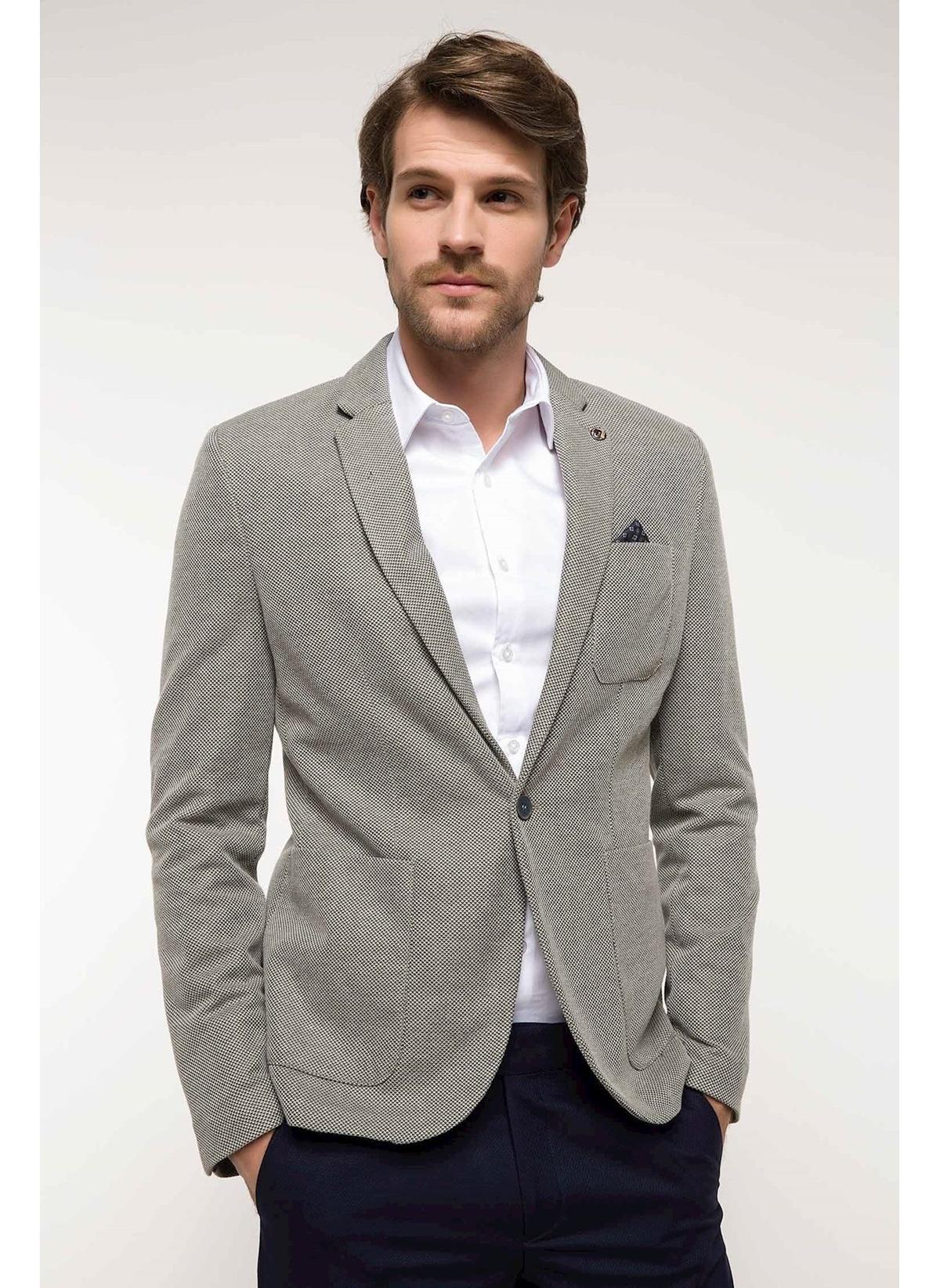 Defacto Slim Fit Mendil Detaylı Blazer Ceket I2827az18spkh64 Ceket – 109.99 TL
